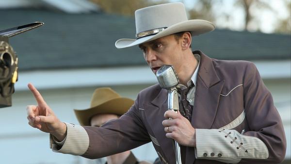 Tom Hiddleston as Hank Williams in <em>I Saw the Light</em>.