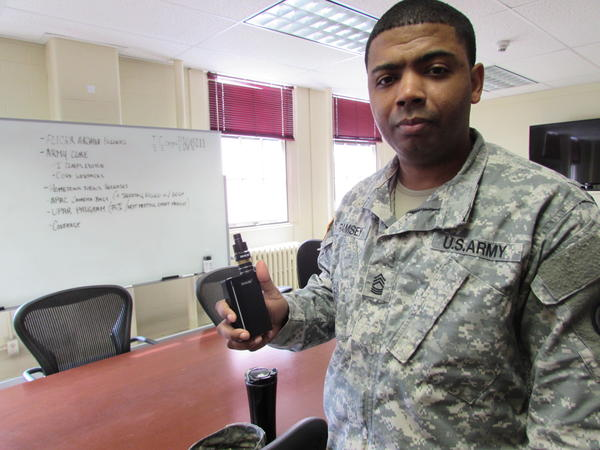 Master Sergeant Raheem Ramsey started vaping six months after he stopped smoking cigarettes.