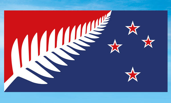 "The <a href=""https://www.govt.nz/browse/engaging-with-government/the-nz-flag-your-chance-to-decide/the-five-alternatives/silver-fern-red-white-and-blue/"">""Silver Fern (Red, White and Blue)""</a> design is nearly identical to the winning alternative design, and is by the same designer, Kyle Lockwood. The red represents ""heritage and sacrifices made,"" he says."