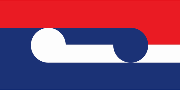 "<a href=""https://www.govt.nz/browse/engaging-with-government/the-nz-flag-your-chance-to-decide/gallery/design/20157"">""Huihui/Together,""</a> by Sven Baker."