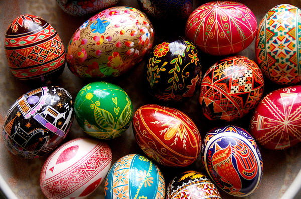 "Ukrainians have been crafting <em>pysanky</em>, elaborately decorated eggs, for thousands of years. ""There's an ancient legend that as long as <em>pysanky</em> are made, evil will not prevail in the world,"" says one <em>pysanky</em> artist."