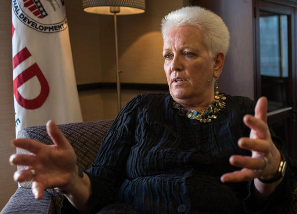 Gayle Smith in her office at the Ronald Reagan Building in Washington, D.C.