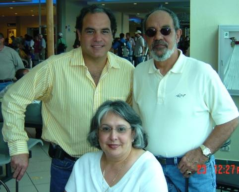 Dr. George Suarez with HIFU patient Carl Sola and Carl's wife Nancy