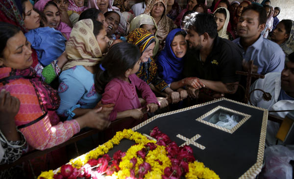 Pakistani Christians on Monday mourn one of those killed in a suicide bombing in the eastern city of Lahore on Easter Sunday. More than 70 people were killed. Islamist extremists continue to carry out deadly attacks despite a military crackdown that has weakened radicals over the past two years.