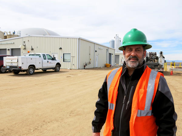 Scott Pexton works for A1 Organics, which runs the food waste processing portion of the Heartland Biogas Project.
