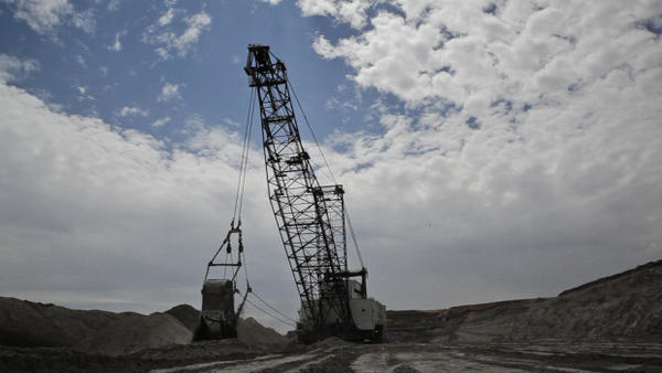<p>A coal mine operation in Wyoming.</p>