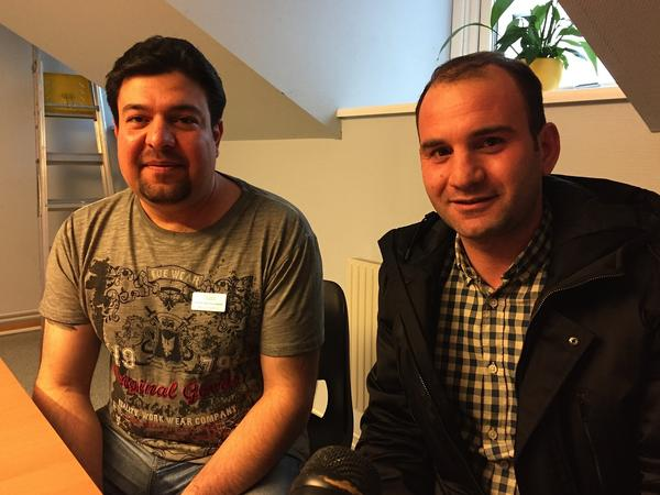 Mohammad Abdualamir and one of his students, Ferras Obai, who is from Syria.
