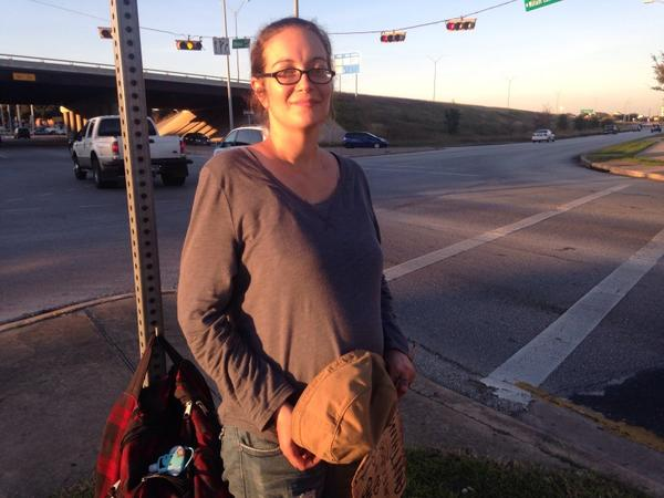 Courtney Meeks, photographed earlier this year, was pregnant and homeless in Austin.