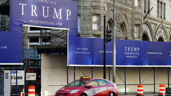 The site of Trump International Hotel, due to open in fall 2016 in Washington, D.C. Donald Trump's campaign announced he will open a campaign office in D.C. next week.