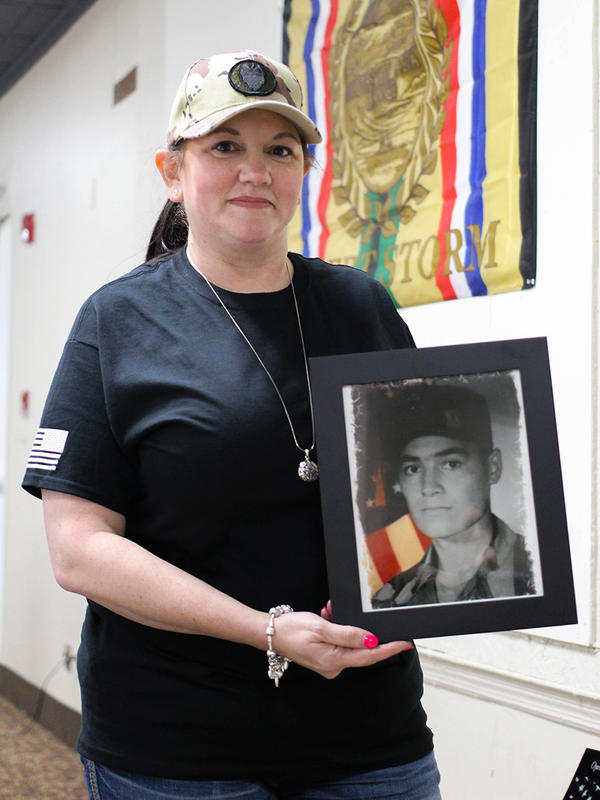 Catherine Alaniz-Simonds was only 19 when her husband was killed in the Gulf War.