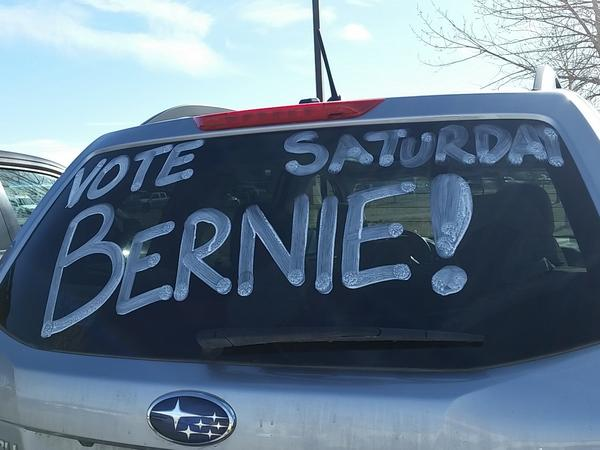 Support for Sen. Bernie Sanders in Wyoming was shown in more than just the votes that declared him winner of the Democratic caucuses there on Saturday.