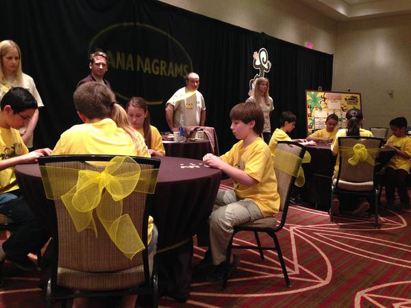 "Twelve fourth through sixth graders competed for the title of ""Top Banana"" in the first Bananagrams tournament held in the United States in Providence."