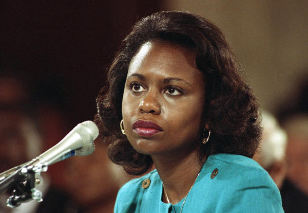 University of Oklahoma law professor Anita Hill testifies before the Senate Judiciary Committee on Capitol Hill in 1991.