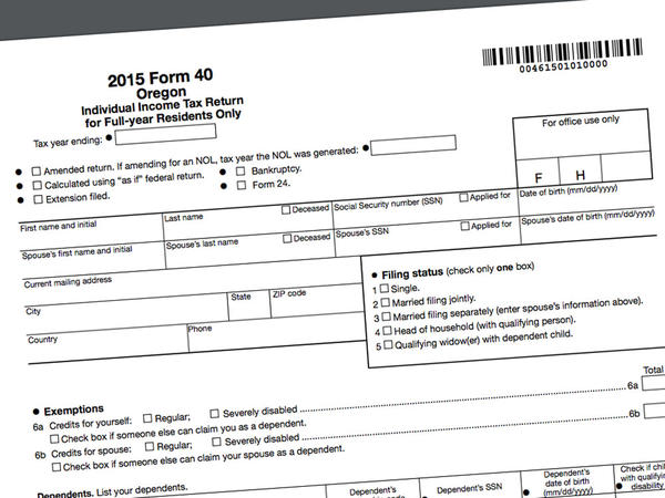 The deadline to file federal and Oregon income tax returns is April 18.