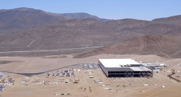 About 14 percent of the Gigafactory in Nevada has been built so far. At 5.8 million square feet, it will be a building with one of the biggest footprints in the world.