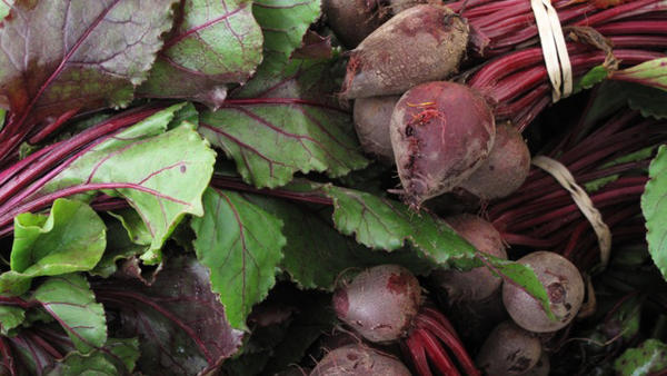 Beets for sale at a Farmer's Market in Washington, D.C. A new investigation found that many Tampa Bay restaurants claiming to serve locally-sourced food are not truthful about where their ingredients come from.