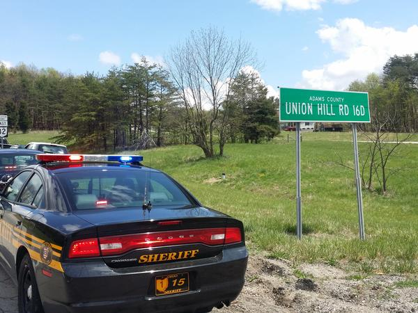 Authorities are investigating a mass shooting in Pike County near the Adams County line.