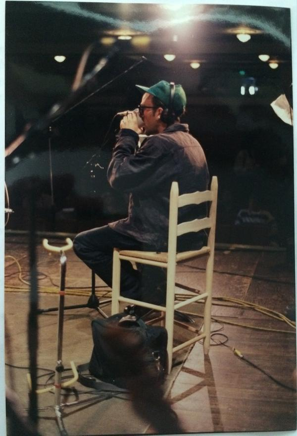 Michael Stipe on stage, 4/28/91
