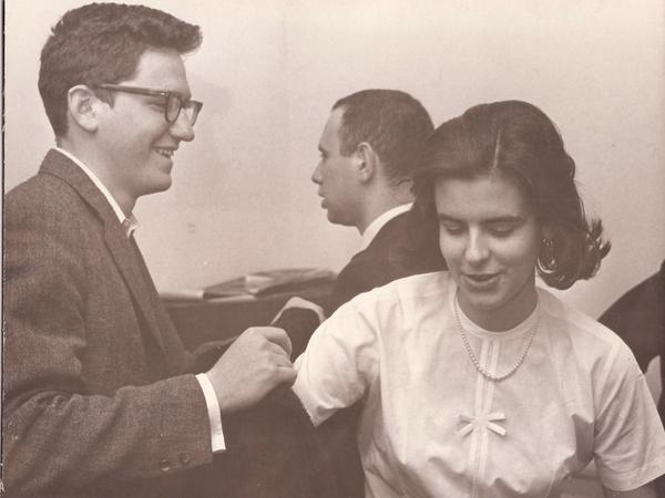 Richard Holbrooke and Katharine Pierce as students in 1961 at Brown University.