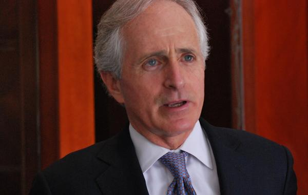 U.S. Sen. Bob Corker, the ranking Republican on the Senate Foreign Relations Committee,  is pictured April 2, 2013. (Kristin M. Hall/AP)