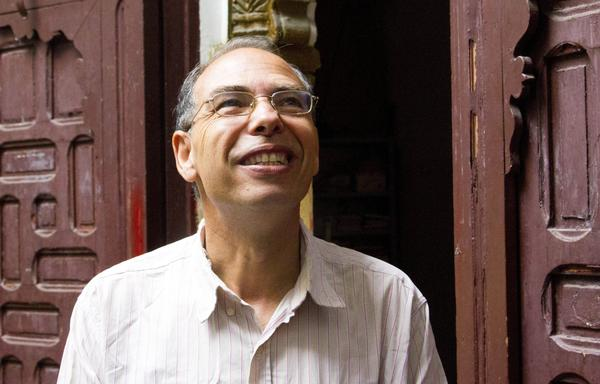 Moroccan historian and journalist Maati Monjib stands outside the headquarters of a human rights group in Rabat. Monjib, a critic of the country's leadership, has been charged with trying to destabilize the state. International human rights groups have spoken out on his behalf.