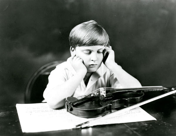 Yehudi Menuhin photographed with his 1733 Prince Khevenhüller Stradivarius. Menuhin received the violin in early 1929 when he was 12. It became his main instrument for 20 years.