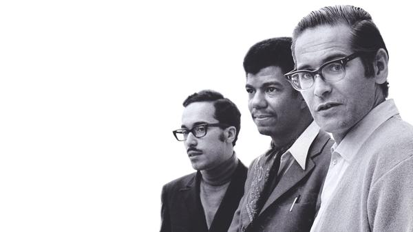 The Bill Evans Trio (Eddie Gomez, Jack DeJohnette and Bill Evans) in 1968.