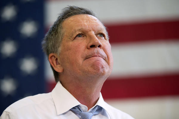 Republican presidential candidate John Kasich speaks during a town hall at Thomas farms Community Center on Monday in Maryland.