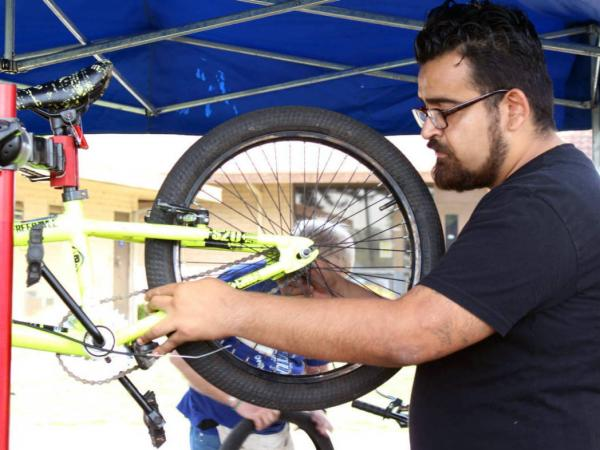 Rangel, who is now 26, says biking was a lifesaver when he was a teen newly diagnosed with Type 2 diabetes. At his insistence, his mom, cousins and uncles began cycling — and the exercise helped bring their diabetes under control, too.