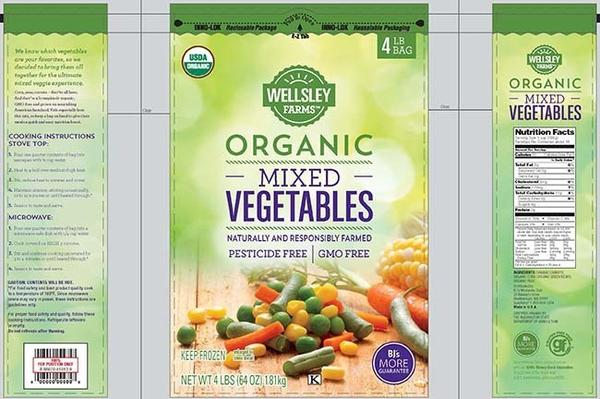 These vegetables are among the frozen products voluntarily recalled by processing plant CRF Frozen Foods.