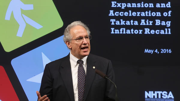 Mark Rosekind, administrator of the National Highway Traffic Safety Administration, speaks Wednesday during a news conference on Takata air bags in Washington, D.C.