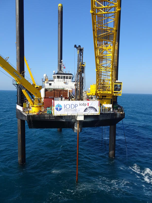 Liftboat Myrtle is a drilling platform normally used for oil operations. Since April, geologists have been using it in the Gulf of Mexico to drill into the crater Chicxulub.