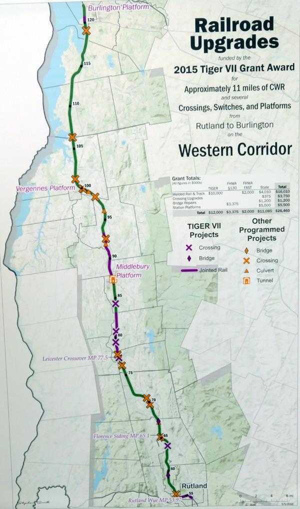 Rail project map