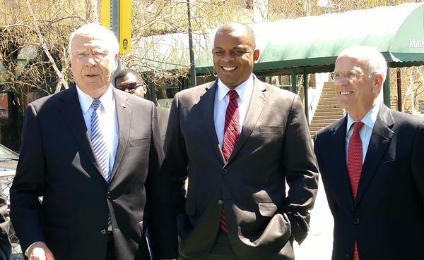 From left: Senator Patrick Leahy, U.S. Transportation Secretary Anthony Foxx, Congressman Peter Welch