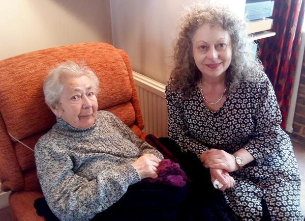 Margit Goodman (left) and her daughter Karen Goodman are lobbying the British government to take in Syrian refugee children. Margit Goodman, now 94, was one of nearly 10,000 children rescued from the Nazis by Kindertransport, a program sponsored by the British government and Jewish aid groups in the lead-up to World War II.