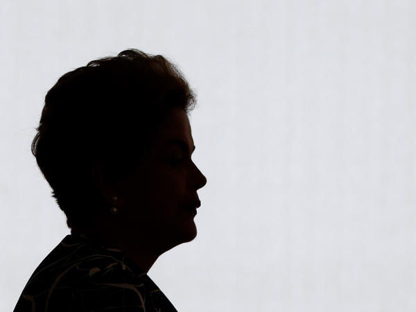 The future of Brazilian President Dilma Rousseff, pictured here on May 6, has been imperiled since she was accused of tampering with the state budget.