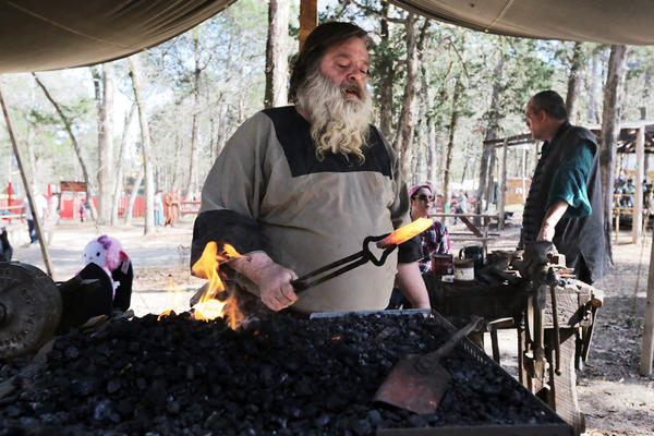 Shane Stainton is a blacksmith and blade smith who forged the Spartan sword in Texas.