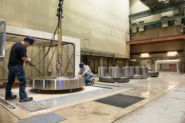 Building just about anything, it turns out — from skyscrapers to medical devices to airplanes — requires an understanding of how materials respond to force. This NIST lab is dedicated to the precise measurement of force, using giant stainless steel weights.