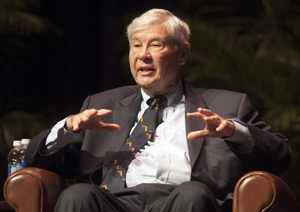 Former Florida Sen. Bob Graham, shown here in 2012, has urged the Obama administration to release the 28 pages of a congressional inquiry into the Sept. 11 attacks that have remained classified. Graham and others say this material contains important information about the financing of the terrorists and their Saudi connections.