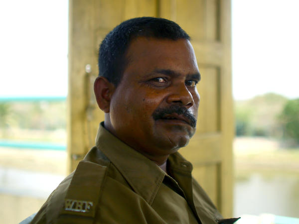 Debnath Mondal was attacked by a tiger in 2010. He continues to work as a guard in the national park in the Sundarbans.