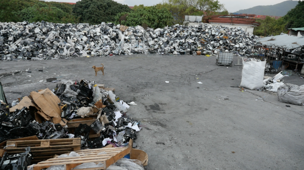 "<p><span class=""s1"">A tracking device inside an old printer led the Basel Action Network to this scrapyard in rural Hong Kong.</span></p>"
