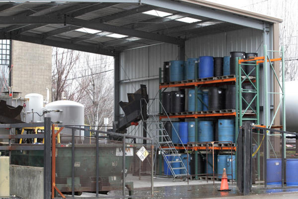 <p>This March 11, 2016 photo shows an exterior view of Bullseye Glass, a business suspected of releasing toxins in Portland, Ore. Fiercely protective of its reputation as one of the most eco-friendly cities in the country, Portland is reeling from the discovery of poisonous heavy metals in the air and the ground of neighborhoods where thousands of people live, work and attend school.</p>