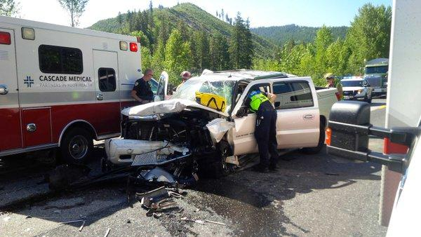 Impaired driving was suspected in this serious collision on May 18 along SR97 in north central Washington.