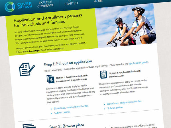 Oregon's failed health insurance sign-up website Cover Oregon closed on June 30, 2015.