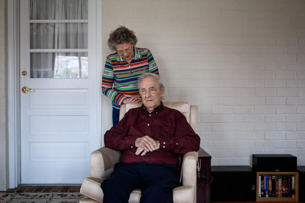 Cavell and his wife, Hilda Cavell, at their home in January 2015.