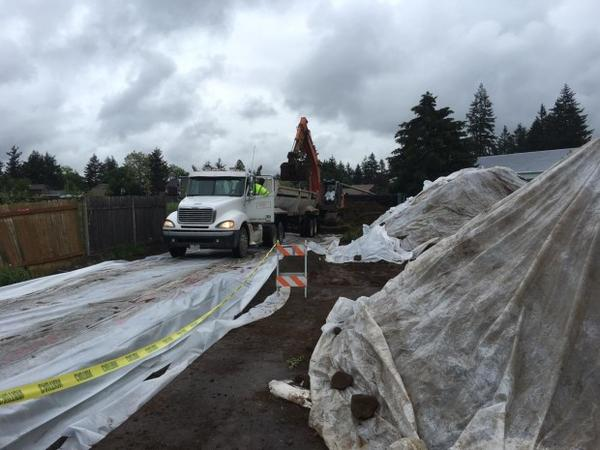 <p>The Environmental Protection Agency is overseeing the removal of more than 400 tons of lead-contaminated soil in the family's backyard.</p>