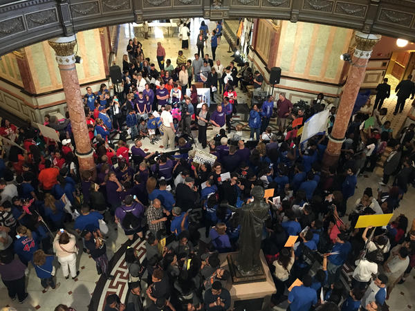 Chicago Public Schools students rallied at the Capitol last week, urging lawmakers to approve equitable funding.