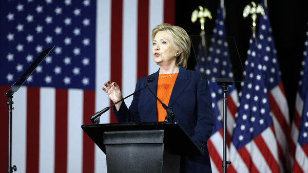 "Democratic presidential candidate Hillary Clinton, speaking on national security, said Thursday it would be a ""historic mistake"" to elect Donald Trump, whom she called unfit to be commander in chief."
