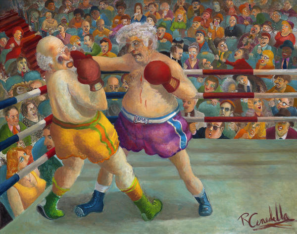 Robert Cenedella's <em>Father's Day</em> was therapy on the canvas.