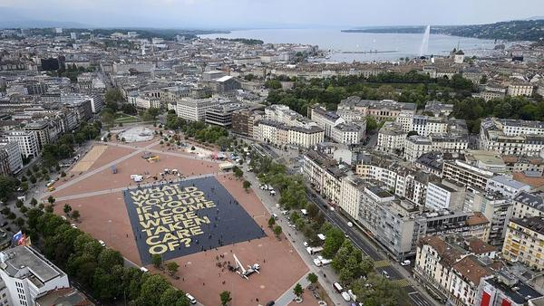 "A giant poster in Geneva reading ""What would you do if your income was taken care of?"" ahead of Switzerland's  vote on a proposed ""basic income"" set the <a href=""http://www.guinnessworldrecords.com/news/charity/2016/5/swiss-group-creates-largest-poster-ever-to-support-vote-for-basic-income-429715"">Guinness World Record</a> for the largest poster ever printed."